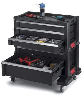 Keter 5 Drawer Modular Tool Storage, Plastic Resin Tool Chest, Black