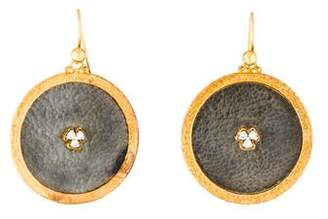 Gurhan Diamond Imperial Granulated Round Drop Earrings