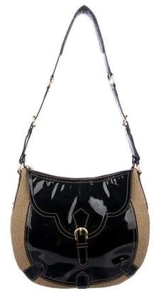 Eric Javits Patent Leather-Trimmed Hobo