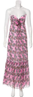 Milly Printed Strapless Dress