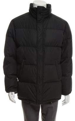 Prada Sport Funnel Neck Quilted Down Puffer Jacket