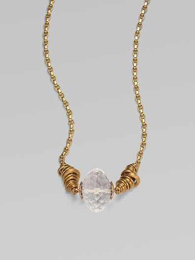 Stephen Dweck Rock Crystal Bead Necklace