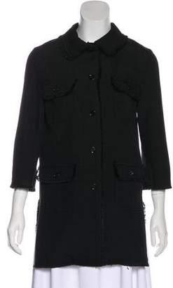 Dolce & Gabbana Frayed Button-Up Coat