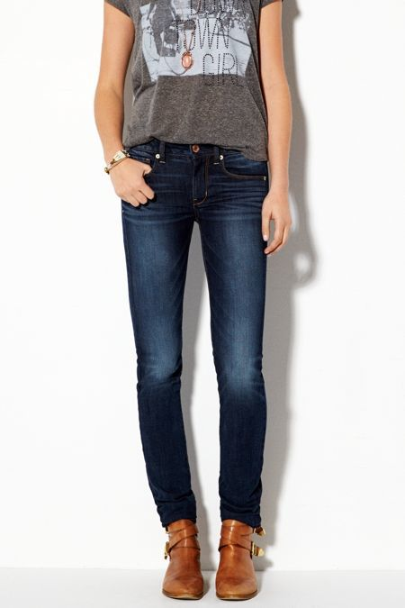 American Eagle Outfitters Dark Indigo Wash Skinny Jeans, Womens 6 Regular By