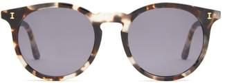 Illesteva Sterling Tortoiseshell Effect Round Sunglasses - Mens - Tortoiseshell