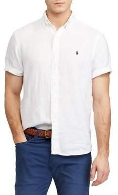Polo Ralph Lauren Classic-Fit Linen Short-Sleeve Shirt