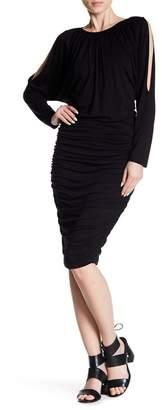 Vince Camuto Cold Shoulder Ruched Dress