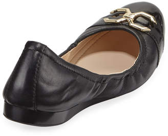 Cole Haan Terrin Leather Ballet Flats, Black