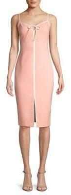 LIKELY Kamali Contrast Slit Slip Dress
