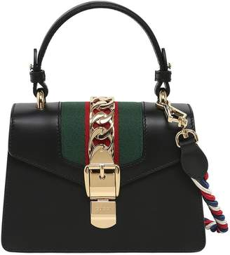 At Luisaviaroma Gucci Mini Sylvie Leather Shoulder Bag