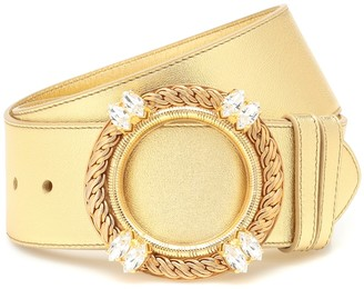 Miu Miu Metallic leather belt