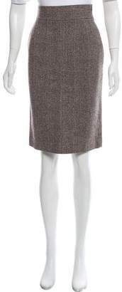 Prada Virgin Wool Tweed Skirt