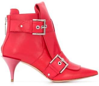 Alexander McQueen buckled ankle boots