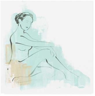 "June Erica Vess Color Block Figure Iii Canvas Art - 20"" x 25"""