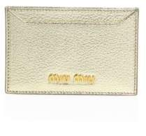 Miu Miu Miu Miu Madras Metallic Leather Card Case