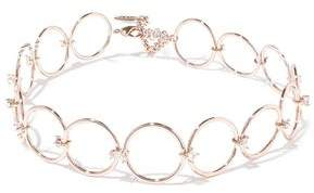Luv Aj Scattered Gem Rose Gold-Tone Crystal Choker