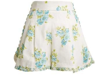 Zimmermann Breeze Honeymooners linen shorts