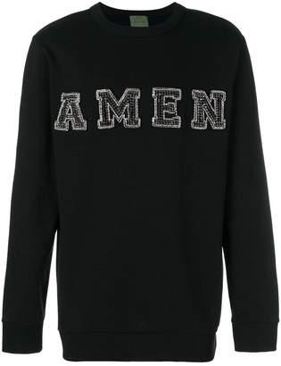 Amen embellished logo sweatshirt