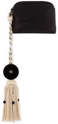 The Row Large Satin Tassel Wristlet Clutch Bag