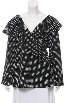 Diane von Furstenberg Polka Dot Print Silk Top w/ Tags