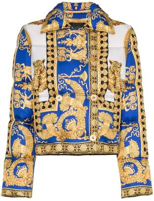 Versace double-breasted padded jacket