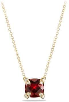David Yurman Châtelaine Pendant Necklace With Citrine And Diamonds In
