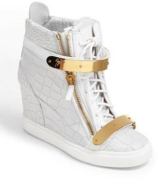 Giuseppe Zanotti 'Lorenz' High Top Wedge Sneaker