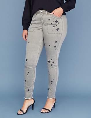 Lane Bryant Utility Skinny Pant - Star Print