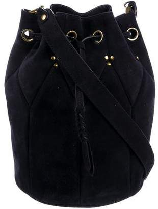 Jerome Dreyfuss Quilted Suede Bucket Bag