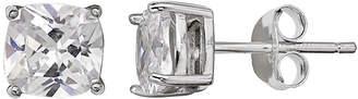 clear SILVER TREASURES Silver Treasures 6mm Stud Earrings