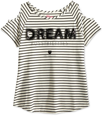 Epic Threads Striped Graphic Cold-Shoulder Top, Big Girls (7-16), Only at Macy's $26 thestylecure.com
