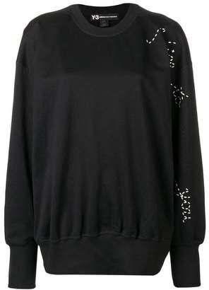 Y-3 Adidas X Yohji Yamamoto Sashiko slogan sweater