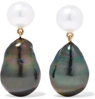 Sophie Bille Brahe Venus 14-karat Gold Pearl Earrings
