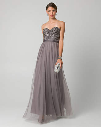 Gunmetal Evening Gown Shopstyle Canada