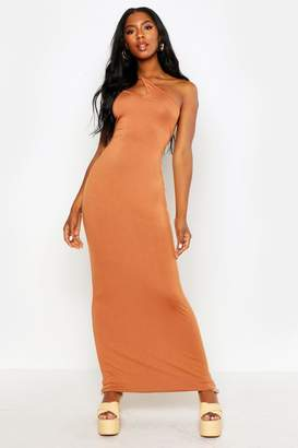boohoo One Shoulder Strappy Cami Maxi Dress