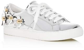 Marc Jacobs Women's Daisy Embellished Patent Leather Lace Up Sneakers