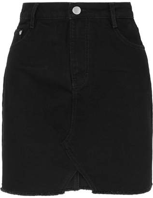 Maje Distressed Denim Mini Skirt - Black
