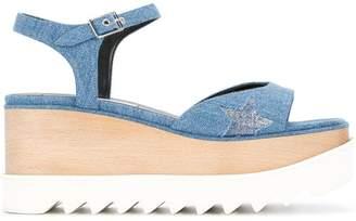 Stella McCartney Elyse star denim sandals