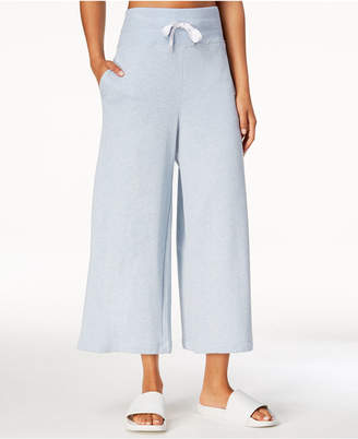 Calvin Klein High-Rise Wide-Leg Terry Cropped Sweatpants