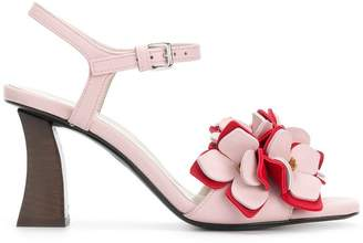 Marni floral applique sandals