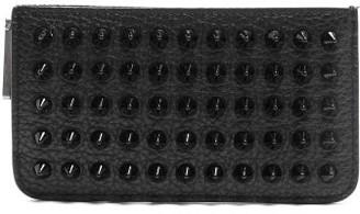 Christian Louboutin Credilou Spike Embellished Leather Cardholder - Mens - Black
