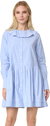 Sea Collar Button Down Dress $365 thestylecure.com