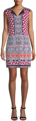 Laundry by Shelli Segal Women's Printed Jersey Shift Dress