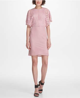 DKNY Flutter-Sleeve Lace Sheath Dress, Created for Macy's