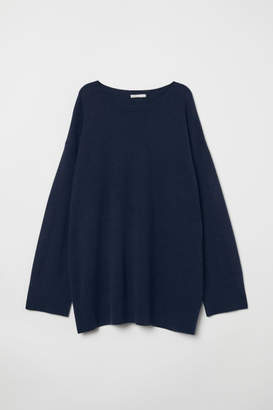 H&M Oversized Cashmere Sweater - Blue