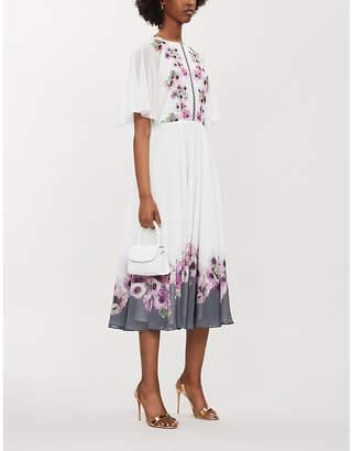 Ted Baker Neapolitan Floral-Print Crepe Midi Dress