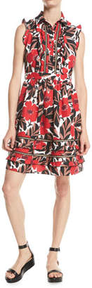 Kate Spade Poppy Field Sleeveless Shirt Dress