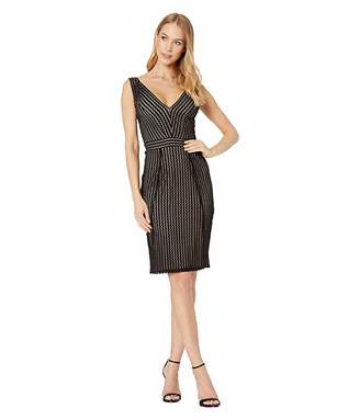 BCBGMAXAZRIA V-Neck Lace Short Cocktail Dress
