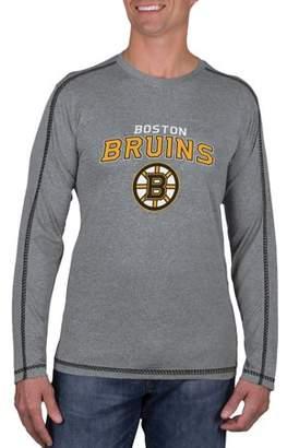 Knights Apparel NHL Boston Bruins Big Men's Athletic-Fit Long Sleeve Impact Tee Shirt