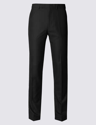 Limited Edition Black Textured Modern Slim Fit Trousers